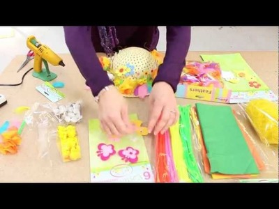 How to make a girls Easter bonnet