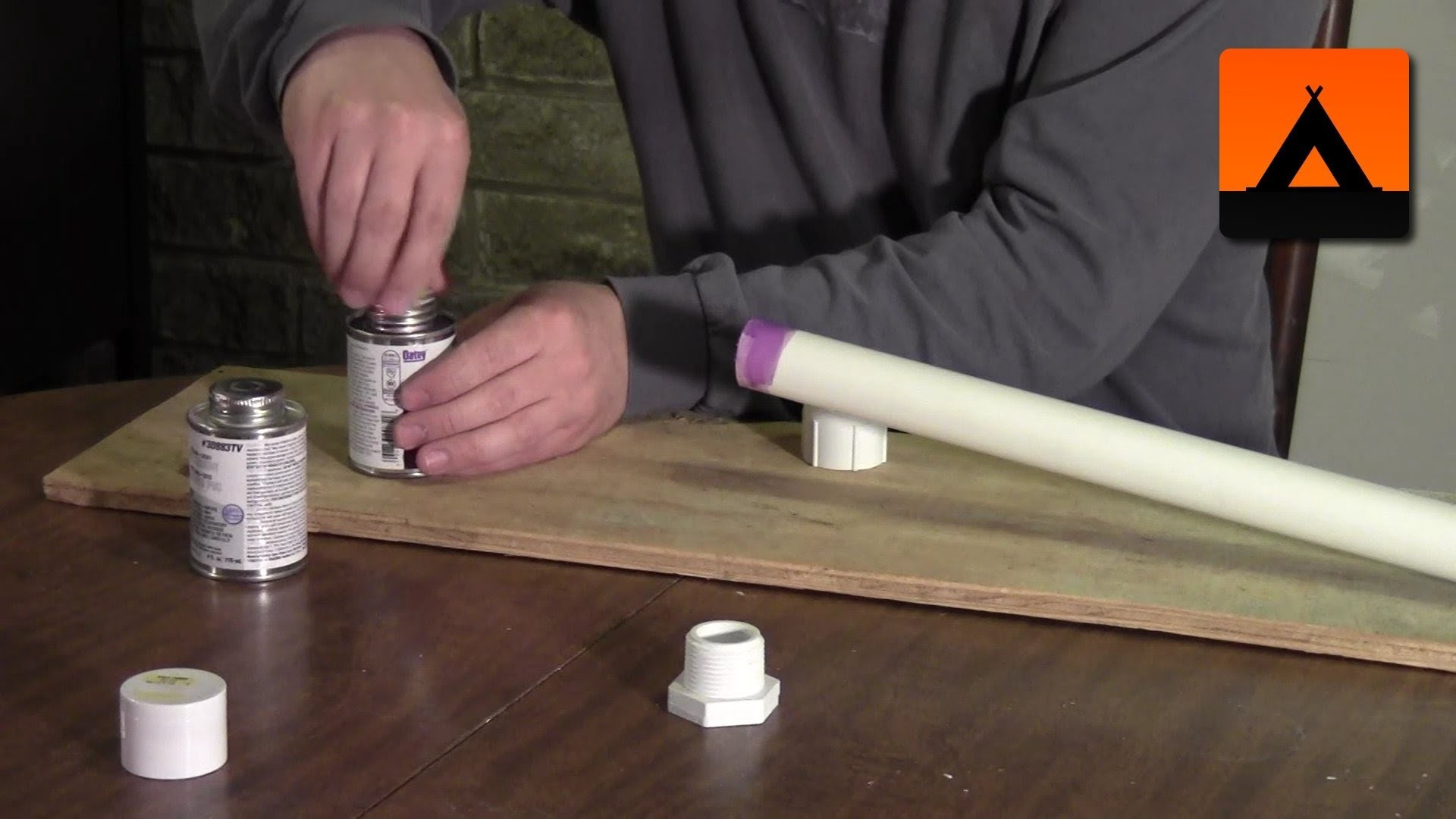 How to make a hiking stick from a PVC pipe