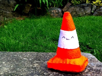 How to Make a Kawaii Traffic Cone Plushie