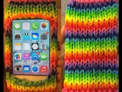 How to make a rainbow loom ipod case without the loom