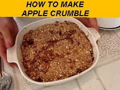 How to make  APPLE CRUMBLE, dessert, vegan