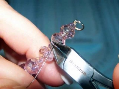 How to make jewelry - Pink Quartz Necklace Tutorial