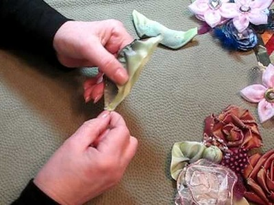How to make ribbon leaves.
