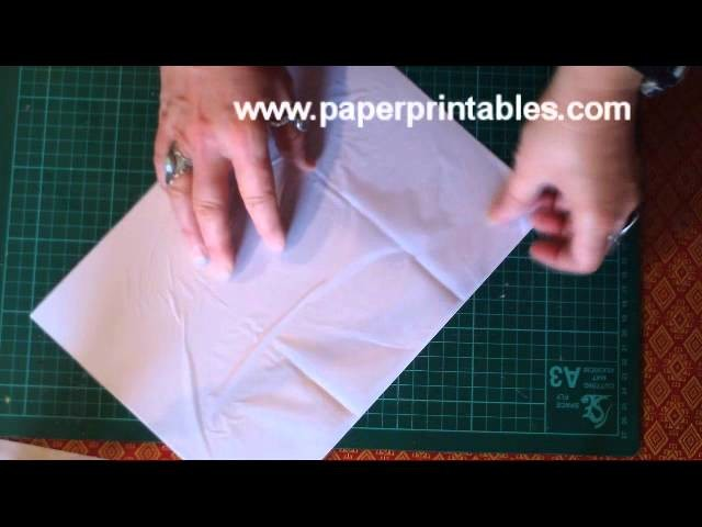 How to print on tissue paper tutorial