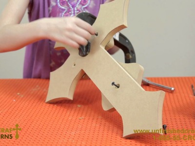 How to Stack Unfinished Wooden Crosses