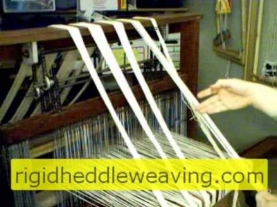How to Warp a Floor Loom Front To Back
