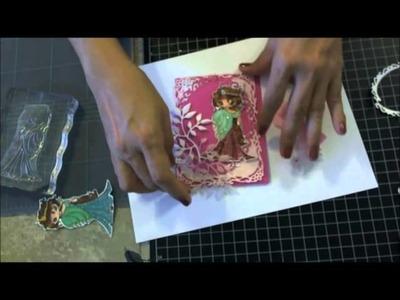 Justafeww - How to make a card using Spellbinders dies