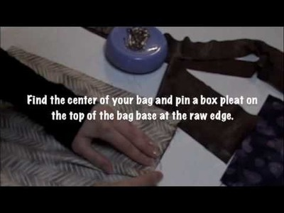 "Learn to Sew - How to Make a Hand Bag ""The New Yorker"" with Love to Sew"