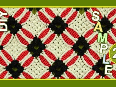 Macrame ABC - pattern sample #20
