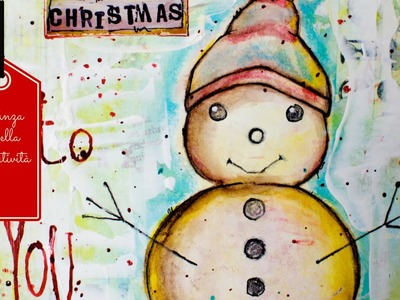 Mixed Media Tutorial: Snowman