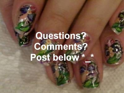 NAIL ART TUTORIAL - FRESH Floral Nails! #31
