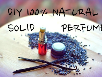 Natural Solid Perfume & Herbal Infused OiL, Lavender-Vanilla In Coconut Oil