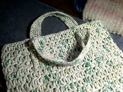 Plarn grocery bag - right handed