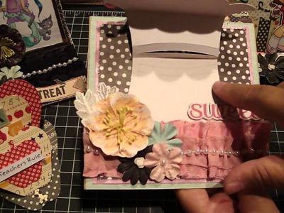 Project Share Easel Cards, Altered Envelopes, Favor and Letter.Envelope Booklet set