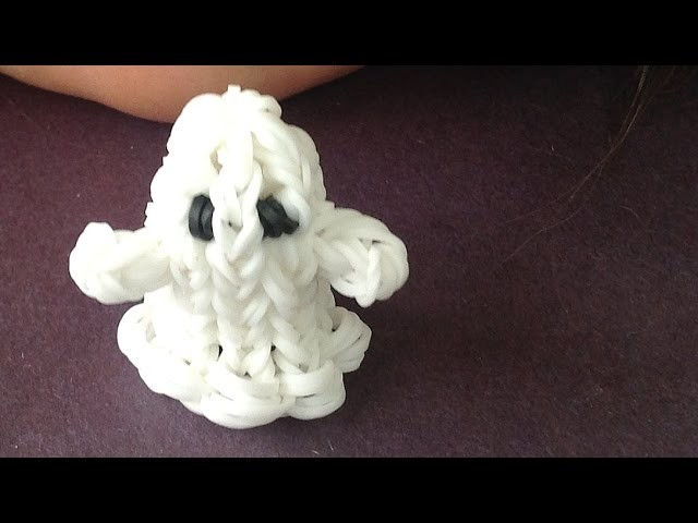 Rainbow Loom Halloween Charms: Ghost 3D - made with loom bands
