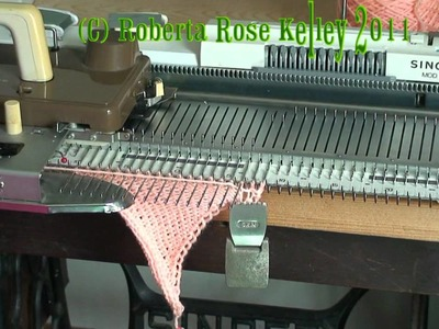 Short Row Spiral Triangle Strips and Circular fabric