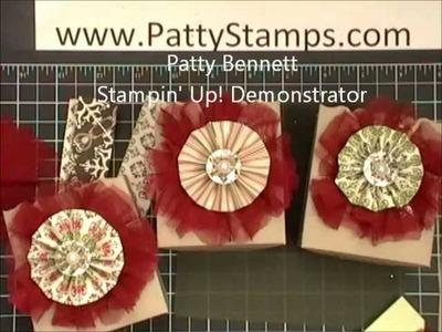Stampin Up Cherry Cobbler Tulle Medallion