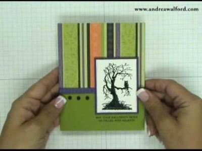 Stampin' Up! Tutorial Embossed Halloween Card