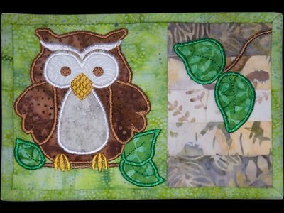Stitching an Owl Mug Rug - Part 1