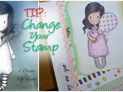 "TIP: ""Stamp Surgery"" Tutorial Gorjuss Girls - I Dream of Tennis - Change the way you use your Stamps"