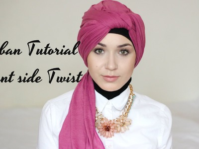 2 Easy Hijab Scarf Turban Tutorial | Front Side Twist