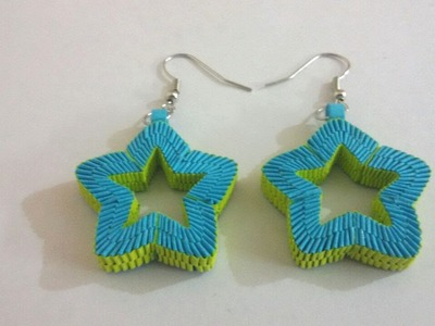7. Paper Weaving Star Shaped Earrings Tutorial