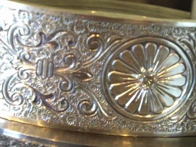 Adding Diamonds to a Vintage Filigree Silver Bracelet