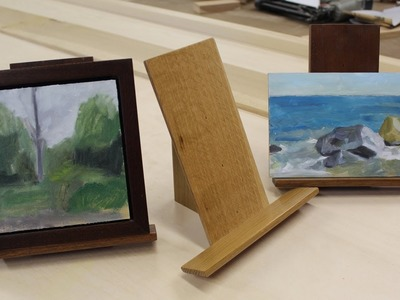 Art Lesson # 4 - How To Make Easel for Small Painting