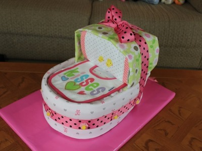 Bassinet Diaper Cake (How To Make)