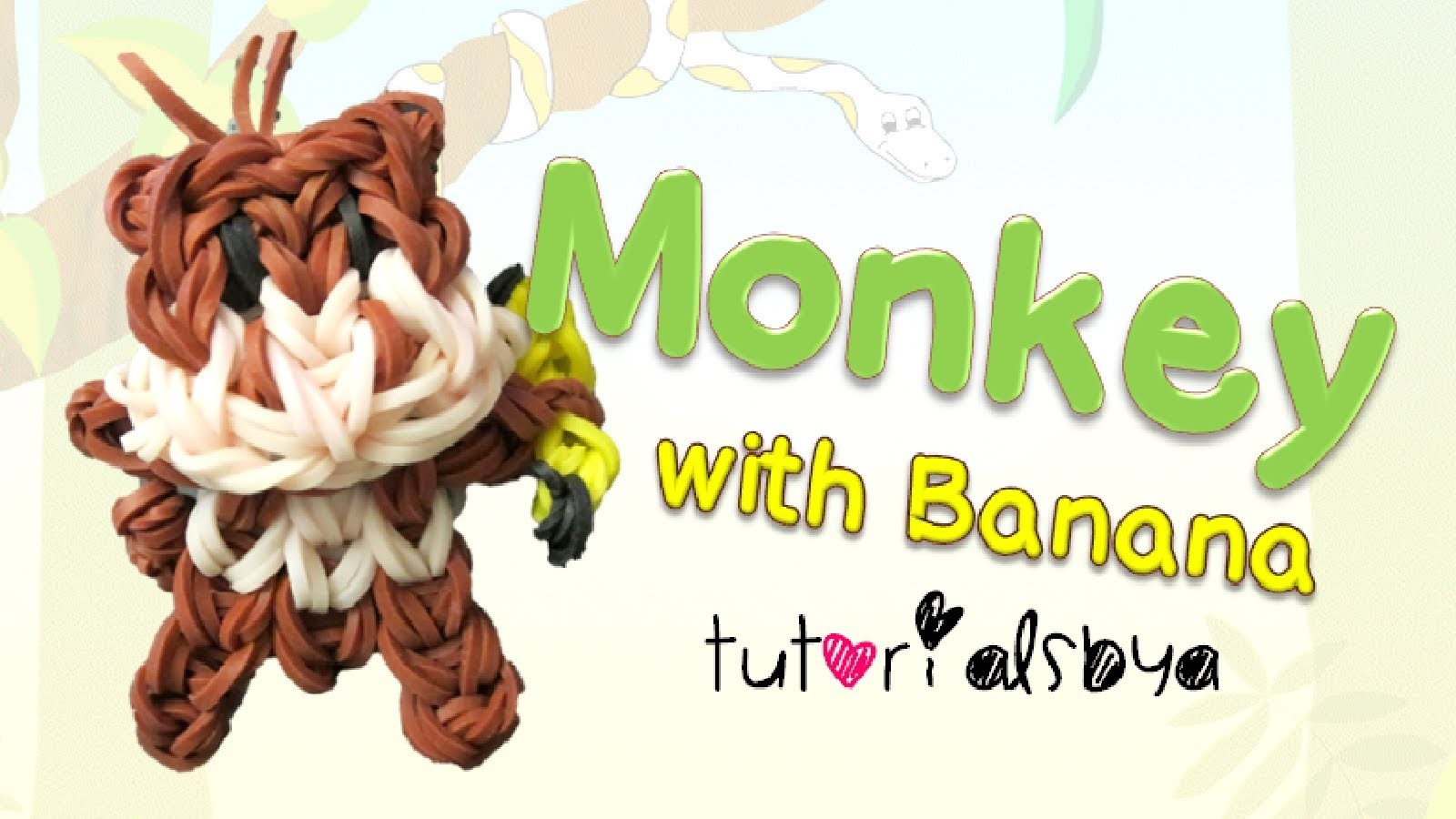 {Bobblehead} Monkey with Banana Animal Charm. Mini Figurine Tutorial | How To