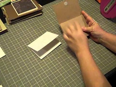 Cardstock flip photo holders for mini albums