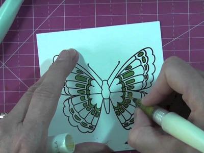 """Carte """"papillon"""" avec Marianne Design's """"butterfly"""" card"""