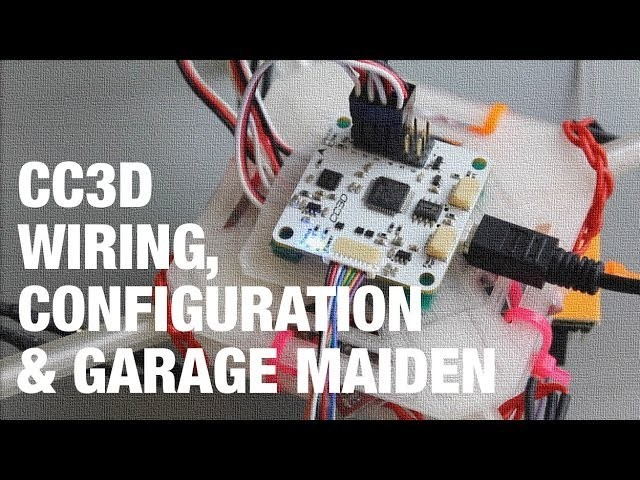 DIY Mini Quadcopter w. OpenPilot CC3D Wiring, Configuration, and Garage Maiden