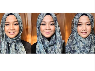 Everyday Hijab Tutorial - Long Scarf with Pattern | Cheryl Raissa