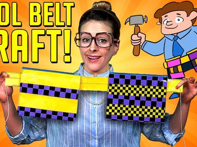 Father's Day - Duct Tape Tool Belt Craft | A Cool School Kids Craft with Crafty Carol