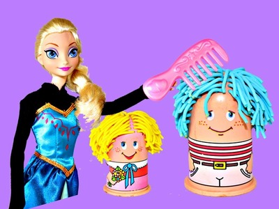 Frozen Play Doh Hair Salon Elsa and Anna Disney Frozen Vintage Play Dough Hair Cuts DisneyCarToys