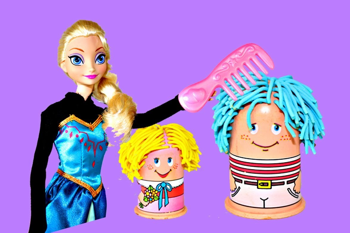 Frozen Play Doh Hair Salon Elsa and Anna Disney Frozen Vintage Play Dough Hair Cuts DisneyCarToys