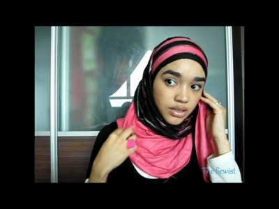 Hijab tutorial #9 Layer it up a hijab style using 2 scarves