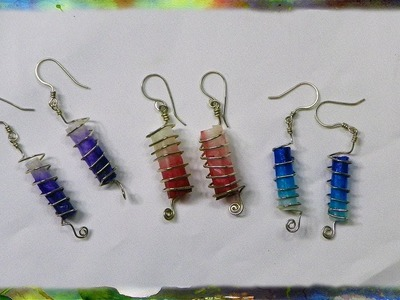 How to Construct Rectangular Spiral Tubular Earrings