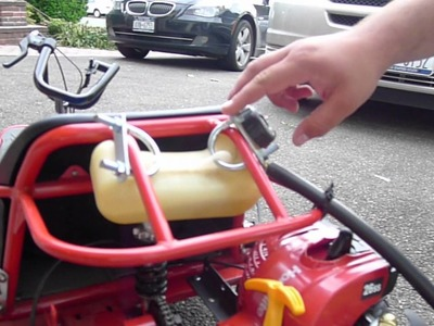 How to convert a Razor Dune Buggy electric go kart to a Razor weed wacker go kart