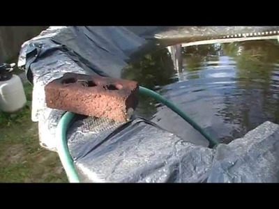 How To Drain Water Off Swimming Pool Cover With Garden Hose Siphon Easy