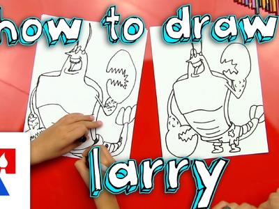 How To Draw Larry The Lobster
