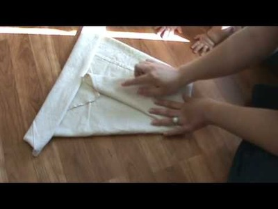How to fold a flat diaper.kite fold