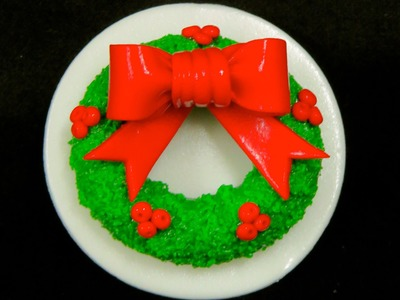 How To Make A Christmas Wreath Cupcake Topper