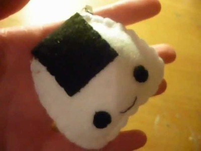 How to Make a Kawaii Onigiri Plush Keychain from Felt (Plushie Tutorial)