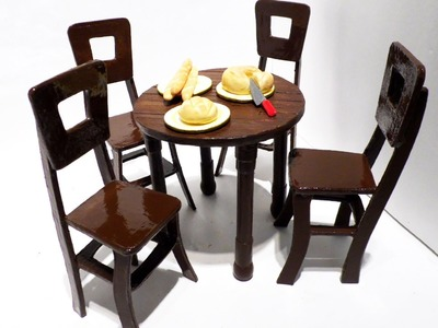 How to Make: Dollhouse Table & Chairs