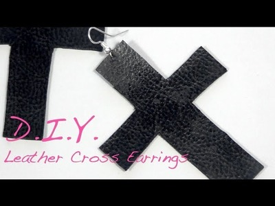 How to make leather cross earrings | Nik Scott
