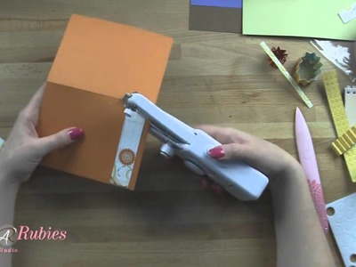 How to Make Paper Rosettes and Stitching on a Card