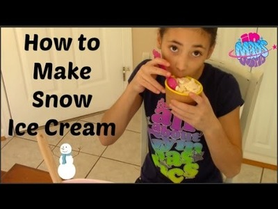How to Make Snow Ice Cream | In Mad's World