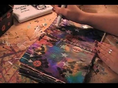 Inspire-Art Journal with Alcohol Inks by Lynda